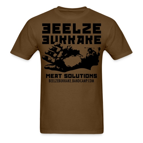 Meat Solutions Shirt (Black on Brown) - Men's T-Shirt