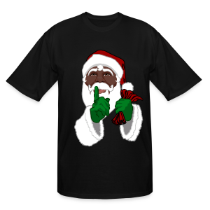 Men's African Santa Shirts Plus Size Christmas T-shirts - Men's Tall T-Shirt