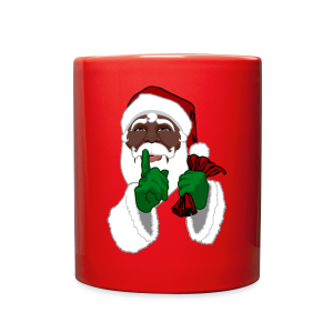 African Santa Cups Black Santa Christmas Mugs - Full Color Mug