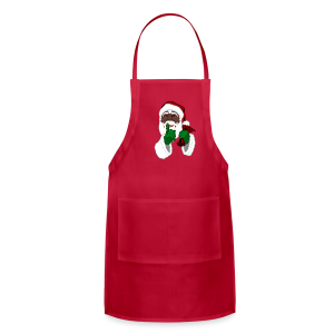 African Santa Apron Black Santa Christmas Gifts - Adjustable Apron