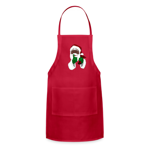 African Santa Apron Black Santa Christmas Gifts - Adjustable Apron