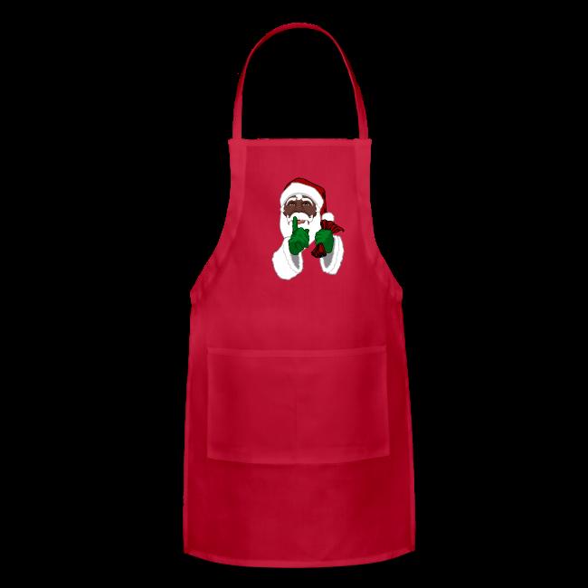 african santa apron black santa christmas gifts - Christmas Apron
