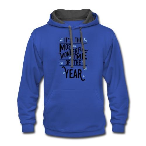 It's the Most Wonderful Time Sweatshirt - Contrast Hoodie
