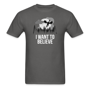 I want to believe... in dragons! T-shirt (Unisex) - Men's T-Shirt