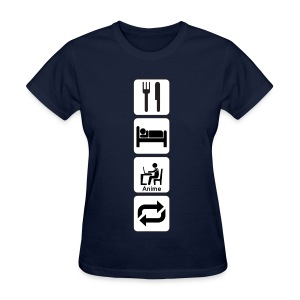Eat, Sleep, Anime, Repeat Vertical T-Shirt (Womens) - Women's T-Shirt