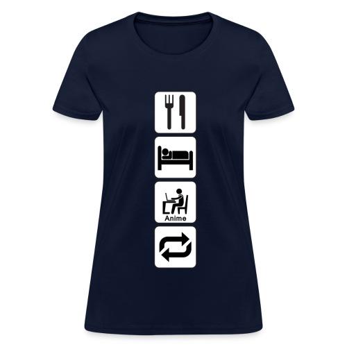Eat, Sleep, Anime, Repeat Vertical T-Shirt (Womens) - Women's T-Shirt