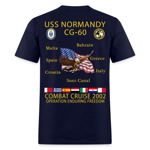 USS NORMANDY COMBAT CRUISE 2002 T-SHIRT - Men's T-Shirt