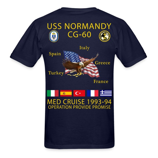 USS NORMANDY MED CRUISE 1993-94 T-SHIRT