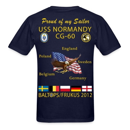 USS NORMANDY BALTOPS/FRUKUS 2012 T-SHIRT - FAMILY EDITION - Men's T-Shirt