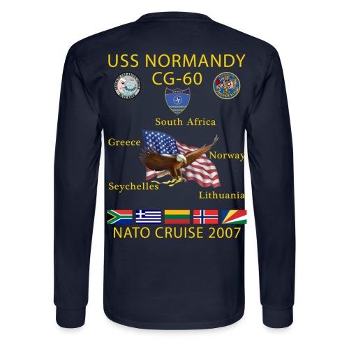 USS NORMANDY NATO CRUISE 2007 LONG SLEEVE - Men's Long Sleeve T-Shirt
