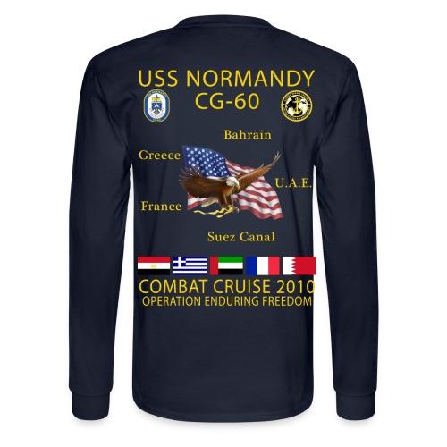 USS NORMANDY COMBAT CRUISE 2010 LONG SLEEVE - Men's Long Sleeve T-Shirt