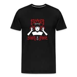 Flames Face premium T-shirt - Men's Premium T-Shirt