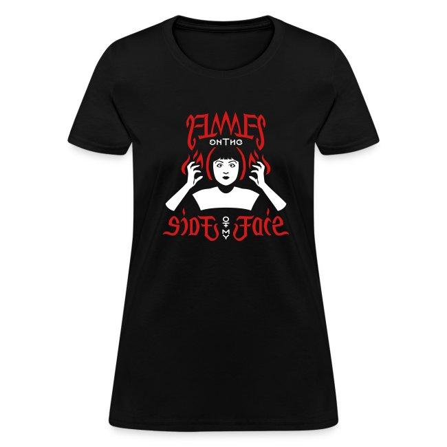 Flames Face women's T-shirt