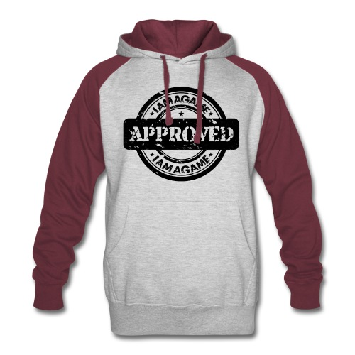 IamAGame Stamp of Approval 2 color Hoodie - Colorblock Hoodie