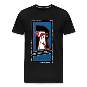 The Review Spot R Logo Black T-shirt - Men's Premium T-Shirt