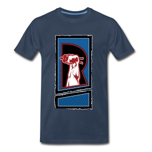 The Review Spot R Logo Navy T-shirt - Men's Premium T-Shirt