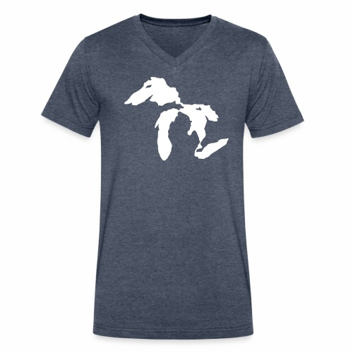 Michigan Paraglider - Men's V-Neck T-Shirt by Canvas