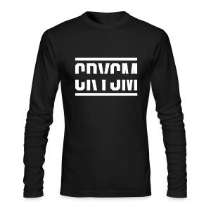 Crysm Strikethrough (Long-sleeve white design) - Men's Long Sleeve T-Shirt by Next Level