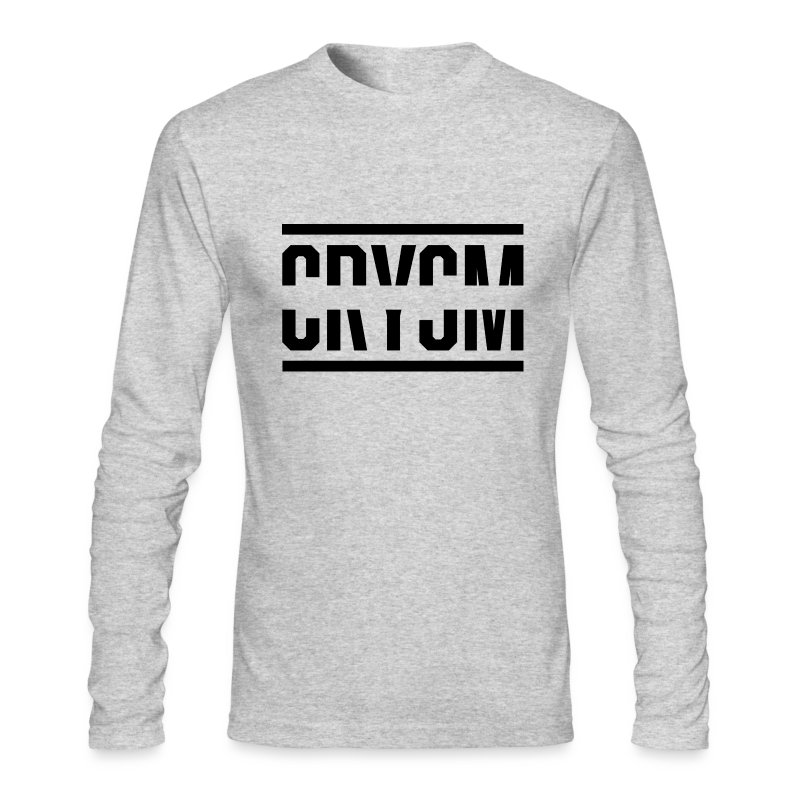 Crysm Strikethrough (Long-sleeve black design) - Men's Long Sleeve T-Shirt by Next Level