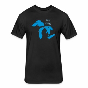 Michigan Paraglider - Fitted Cotton/Poly T-Shirt by Next Level
