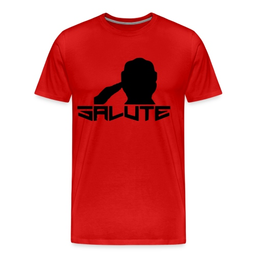 Salute-Me Red & Black - Men's Premium T-Shirt