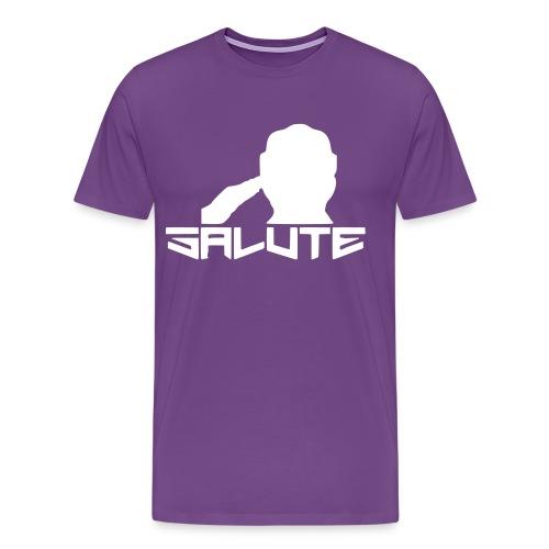 Salute-Me Purple&White - Men's Premium T-Shirt