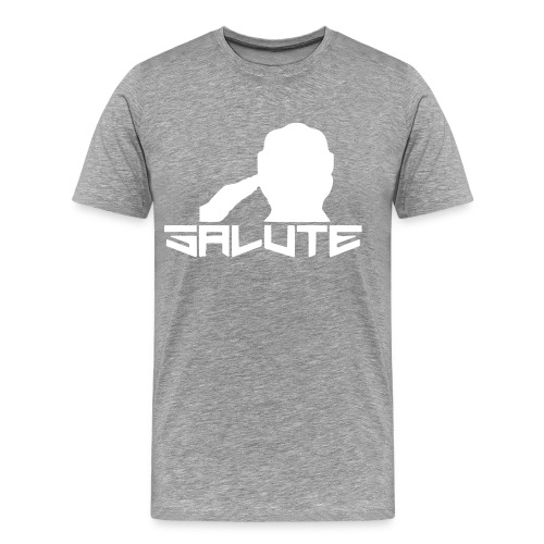 Salute-Me Grey&White - Men's Premium T-Shirt