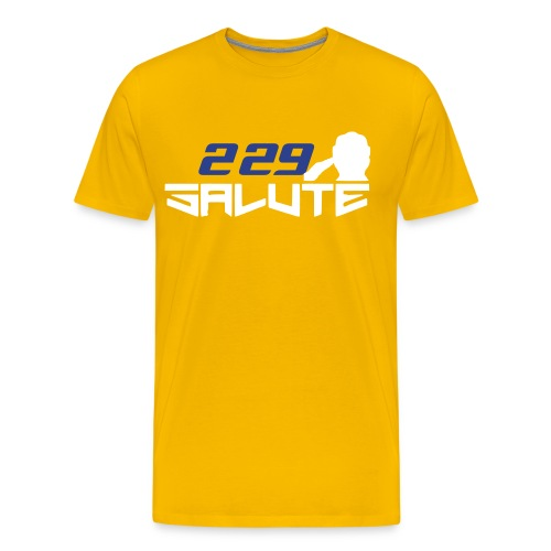 229Salute-Yellow - Men's Premium T-Shirt