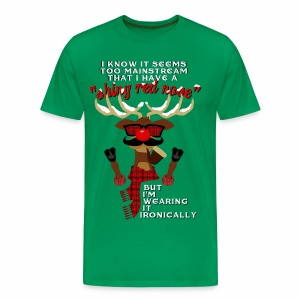 Hipster Rudolph the Reindeer - Men's Premium T-Shirt