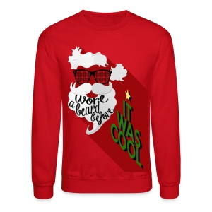 The Hipster Santa's Beard - Crewneck Sweatshirt