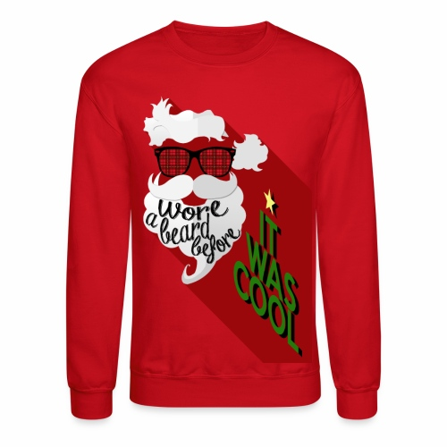 The Hipster Santa's Beard - Crewneck Sweatshirt