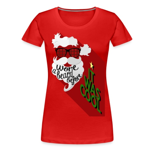 The Hipster Santa's Beard - Women's Premium T-Shirt