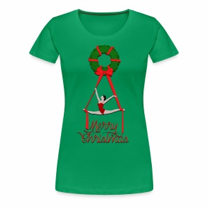 Aerial Christmas Wreath - Women's Premium T-Shirt