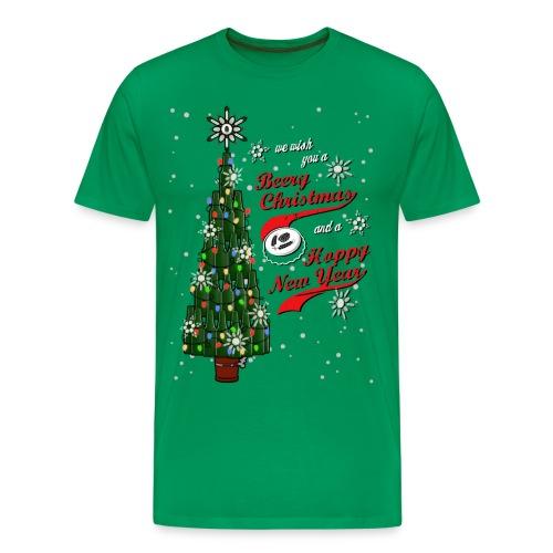 Beery Christmas Tree - Men's Premium T-Shirt