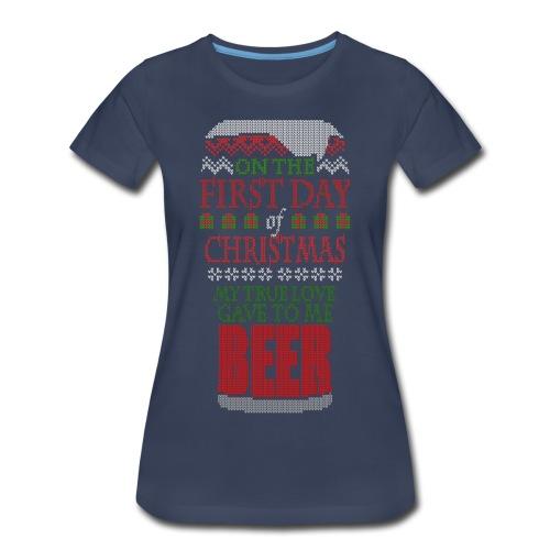 Beer Christmas Sweater - Women's Premium T-Shirt