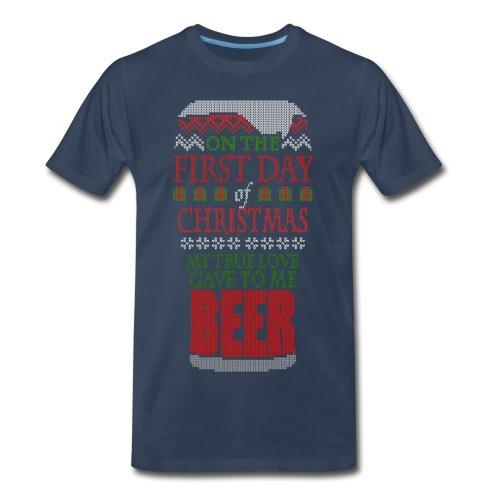 Beer Christmas Sweater - Men's Premium T-Shirt