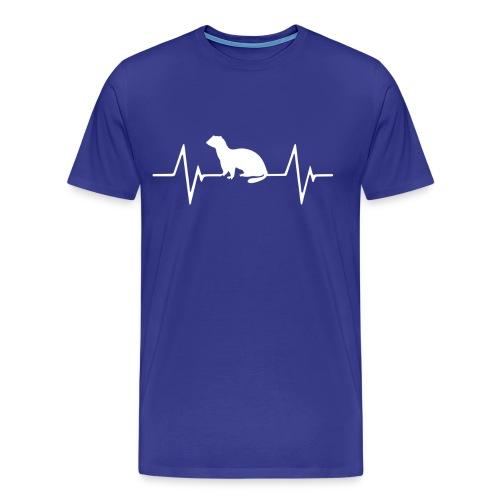 Ferret Heartbeat Men's Premium Shirt - Men's Premium T-Shirt