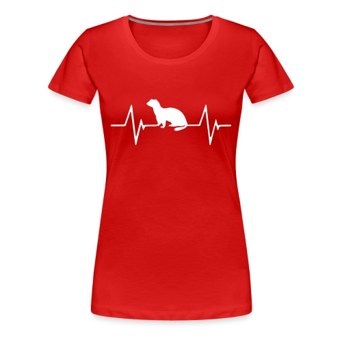 Ferret Heartbeat Women's Premium Shirt - Women's Premium T-Shirt