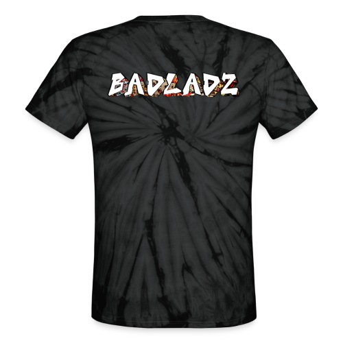 Tie Dye with BADLADZ text on back - Unisex Tie Dye T-Shirt