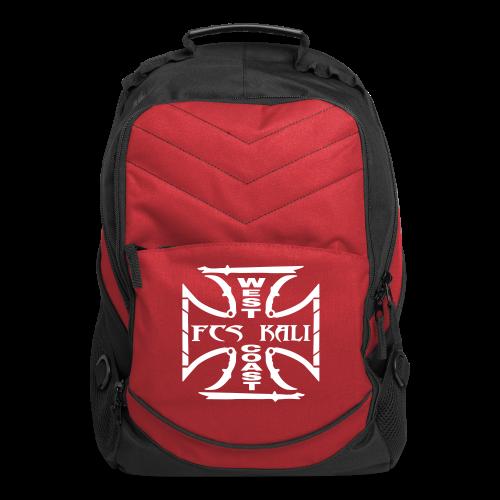 FCS Kali West Coast Red Computer Backpack - Computer Backpack
