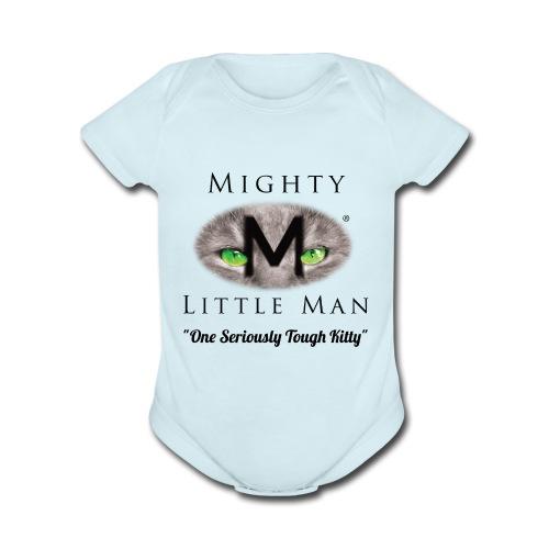 Mighty Little Man Jumper - Organic Short Sleeve Baby Bodysuit
