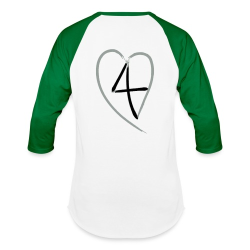 L4E Baseball Shirt 4Heart Back - Baseball T-Shirt