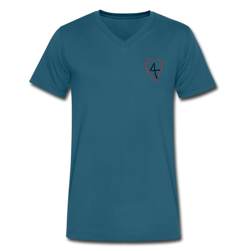 L4E Men's 4Heart V-Neck - Men's V-Neck T-Shirt by Canvas