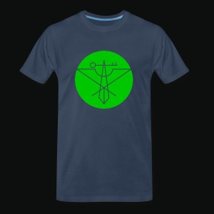 Green Avian Crux Logo - Men's Premium T-Shirt