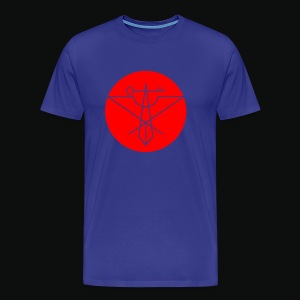Red Avian Crux Logo - Men's Premium T-Shirt