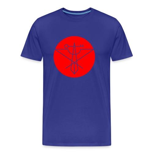 Red Avian Crux Logo - Men's Premium T-Shirt