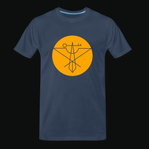 Orange Avian Crux Logo - Men's Premium T-Shirt