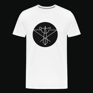 Black Avian Crux Logo - Men's Premium T-Shirt