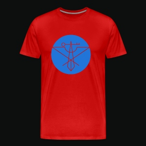 Blue Avian Crux Logo - Men's Premium T-Shirt