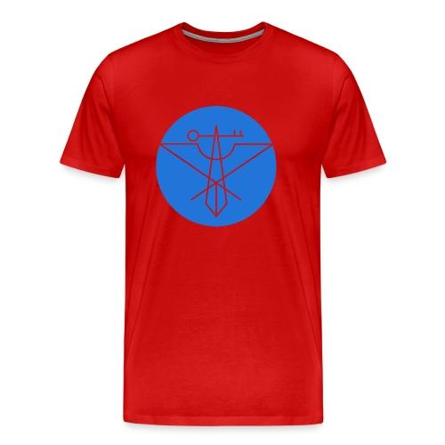 Blue Avian Crux Logo - Men's Premium T-Shirt